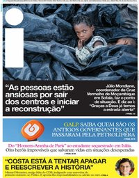 capa Jornal i de 25 março 2019
