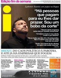 capa Jornal i de 29 março 2019