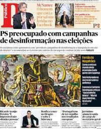 capa Público de 3 março 2019