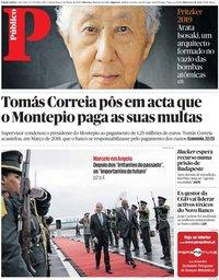 capa Público de 6 março 2019
