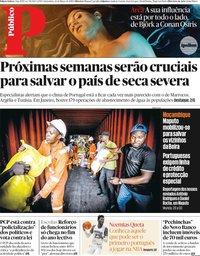 capa Público de 22 março 2019
