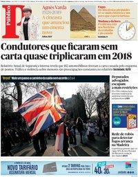 capa Público de 30 março 2019