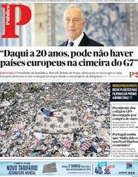 capa Público de 31 março 2019