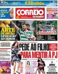 capa Correio da Manhã de 4 abril 2019