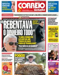 capa Correio da Manhã de 9 abril 2019