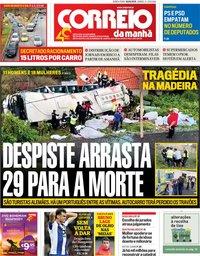 capa Correio da Manhã de 18 abril 2019