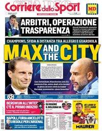 capa Corriere dello Sport de 9 abril 2019