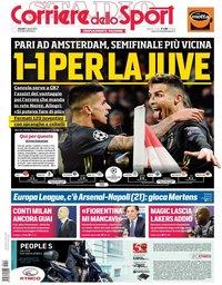 capa Corriere dello Sport de 11 abril 2019