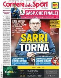 capa Corriere dello Sport de 26 abril 2019