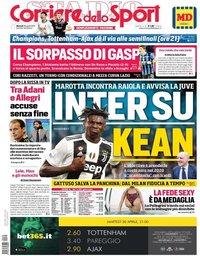 capa Corriere dello Sport de 30 abril 2019