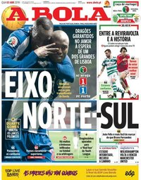 capa Jornal A Bola de 3 abril 2019