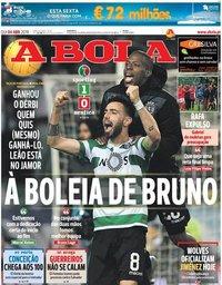 capa Jornal A Bola de 4 abril 2019