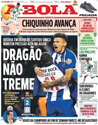 capa Jornal A Bola de 6 abril 2019