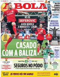 capa Jornal A Bola de 8 abril 2019