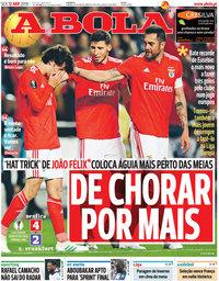capa Jornal A Bola de 12 abril 2019