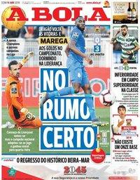 capa Jornal A Bola de 14 abril 2019