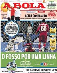 capa Jornal A Bola de 18 abril 2019