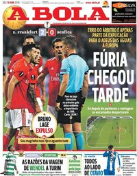 capa Jornal A Bola de 19 abril 2019