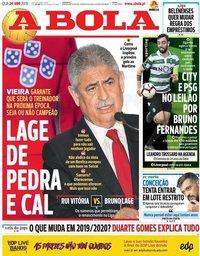capa Jornal A Bola de 24 abril 2019