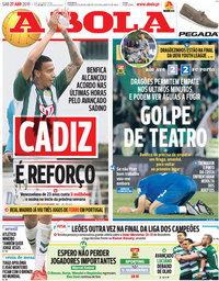 capa Jornal A Bola de 27 abril 2019
