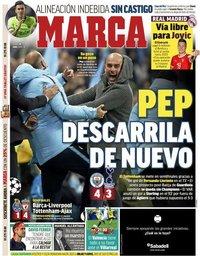 capa Jornal Marca de 18 abril 2019