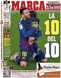 capa Jornal Marca de 28 abril 2019