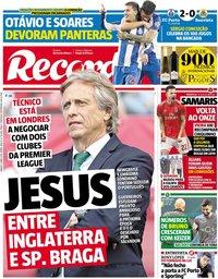 capa Jornal Record de 6 abril 2019