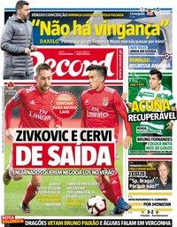 capa Jornal Record de 9 abril 2019