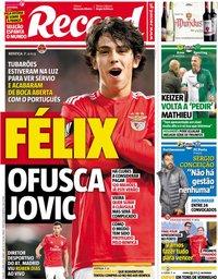capa Jornal Record de 13 abril 2019