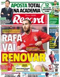 capa Jornal Record de 16 abril 2019