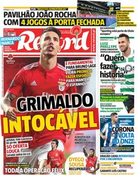 capa Jornal Record de 25 abril 2019