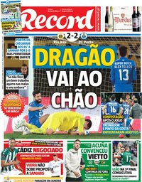 capa Jornal Record de 27 abril 2019