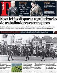 capa Público de 14 abril 2019