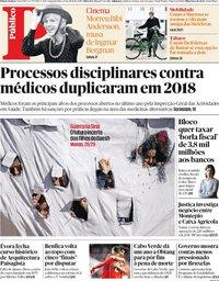 capa Público de 15 abril 2019