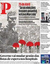 capa Público de 25 abril 2019