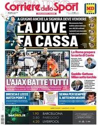 capa Corriere dello Sport de 1 maio 2019