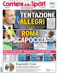 capa Corriere dello Sport de 6 maio 2019