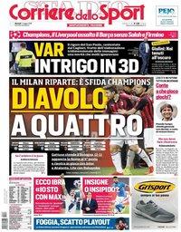 capa Corriere dello Sport de 7 maio 2019