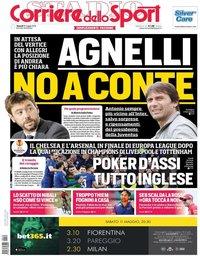 capa Corriere dello Sport de 10 maio 2019