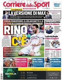 capa Corriere dello Sport de 12 maio 2019