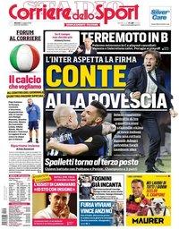 capa Corriere dello Sport de 14 maio 2019