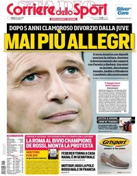capa Corriere dello Sport de 18 maio 2019