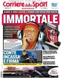 capa Corriere dello Sport de 22 maio 2019