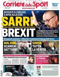 capa Corriere dello Sport de 23 maio 2019