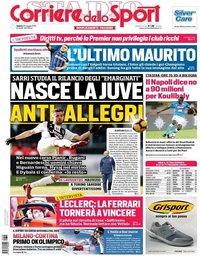 capa Corriere dello Sport de 25 maio 2019
