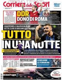 capa Corriere dello Sport de 26 maio 2019