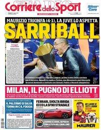 capa Corriere dello Sport de 30 maio 2019