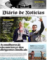 capa Diário de Notícias de 1 maio 2019