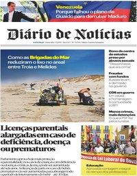 capa Diário de Notícias de 3 maio 2019