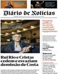 capa Diário de Notícias de 6 maio 2019